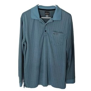 Greg Norman Blue Men's M Long Sleeve Athletic Polo